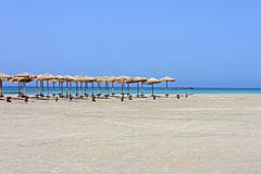Relaxation de plage d'Elafonisi image stock
