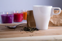 Relaxation de thé Photographie stock libre de droits
