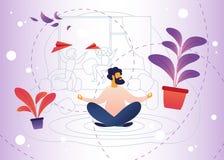 Relaxation, effort du Parenting et garde d'enfants illustration stock