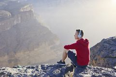 Relaxation en montagnes image stock