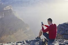 Relaxation en montagnes photos stock