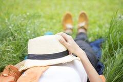 Relaxation et concept extérieur d'idée Images stock
