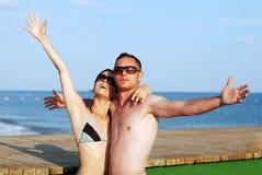 Relaxation et joie de vacances Photo stock