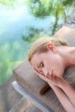 Relaxation et paix par l'eau photo libre de droits