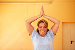 Relaxation exercise in gym Royalty Free Stock Photography