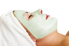 Relaxation faciale de masque Photos stock
