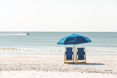 Relaxation on Floridian beach Stock Image