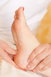 Relaxation Foot Massage. Reflexology foot massage. Spa and beauty image. Relaxation Royalty Free Stock Photos
