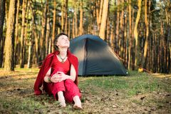 Relaxation in forest Royalty Free Stock Photography