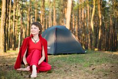 Relaxation in forest Royalty Free Stock Photo
