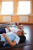 Relaxation in a gym Stock Photo