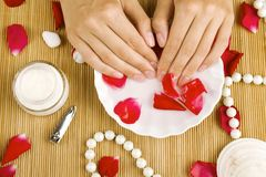 Relaxation of hands Royalty Free Stock Image