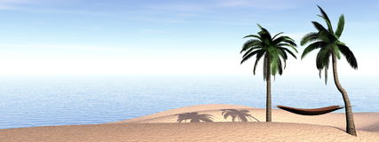 Relaxation at holidays - 3D render Stock Photos