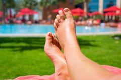 Relaxation on holidays Stock Photo
