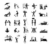 25 relaxation icon. Activities Icon of leisure,rest,relax Royalty Free Stock Image