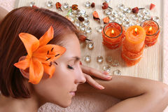 Relaxation In Spa Salon Stock Photos