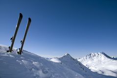 Relaxation in Les Arcs. France Royalty Free Stock Image