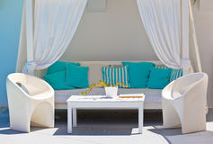 Relaxation lounge in luxury resort Stock Photography
