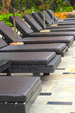 The relaxation lounge beside the pool. Royalty Free Stock Images