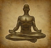 Relaxation méditante de spiritualité de yoga de méditation Photos libres de droits