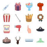 Relaxation, marriage, ritual and other web icon in cartoon style.Appliance, animal, beauty icons in set collection. Stock Images
