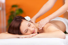 Relaxation during massage Royalty Free Stock Image