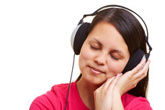 Relaxation with music Royalty Free Stock Photo