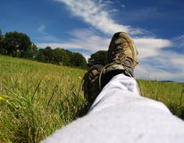 Free Relaxation On The Meadow Stock Image - 893621