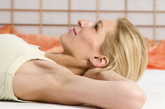 Relaxation open eyes Stock Image