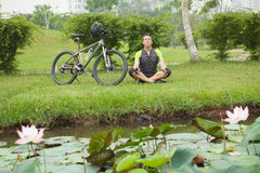 Relaxation outside Stock Image