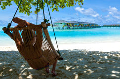 Relaxation on paradise Caribbean Stock Image