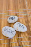 Relaxation pebbles Stock Photo