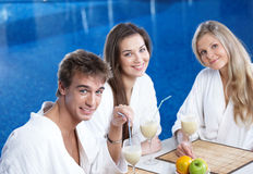 Relaxation after procedures stock photography