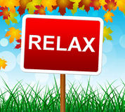 Relaxation Relax Indicates Relief Relaxing And Recreation Royalty Free Stock Photos
