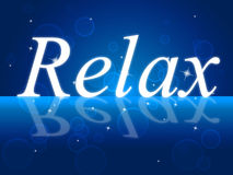 Relaxation Relax Represents Recreation Pleasure And Relief Royalty Free Stock Photography