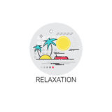 Relaxation Resort Area Holiday Vacation Destination Icon Stock Photos