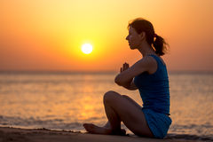 Relaxation on the seashore Stock Photography