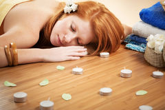Relaxation in spa salon Royalty Free Stock Image