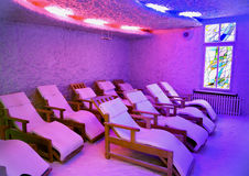 Relaxation speleoclimatic salt room Stock Image