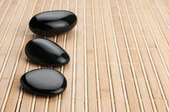 Relaxation Stones at a Spa Stock Photo