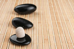 Relaxation Stones at a Spa Royalty Free Stock Photo