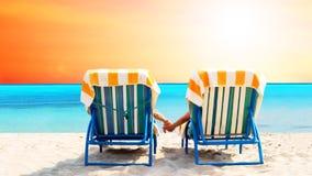 Relaxation sur la plage Images libres de droits