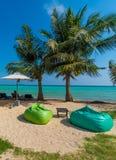 Relaxation sur la plage de la Thaïlande Photographie stock libre de droits