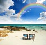 Relaxation sur la plage en Thaïlande Photographie stock libre de droits
