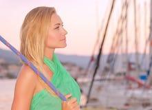 Relaxation sur le yacht photo libre de droits