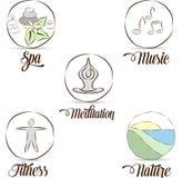 Relaxation symbols stock illustration
