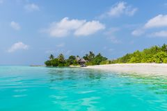 The relaxation on the tropical beach of Maldives Royalty Free Stock Photography