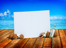 Relaxation Vacation Summer Beach Ocean Concept Stock Photo