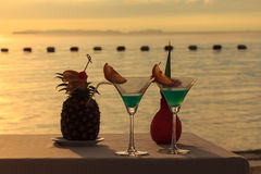 Relaxation Vacation Sunset Royalty Free Stock Photos