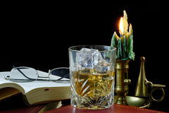 Relaxation with Whisky Stock Photography